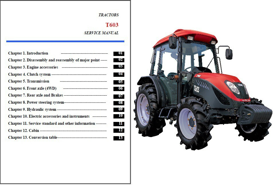TYM T603 Tractor Service Repair Manual on a and 50 similar items