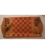 Primitive Americana Folk Art Hand Painted Chessboard Checkers Rural Farm... - $70.10