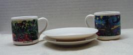 Vintage Chaleur Espresso Cups With Saucers Master Impressionists Van Gough - $14.00
