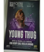 Young Thug Official Concert After Party FoxTail Nightclub 11 x 17 Promo ... - $5.95
