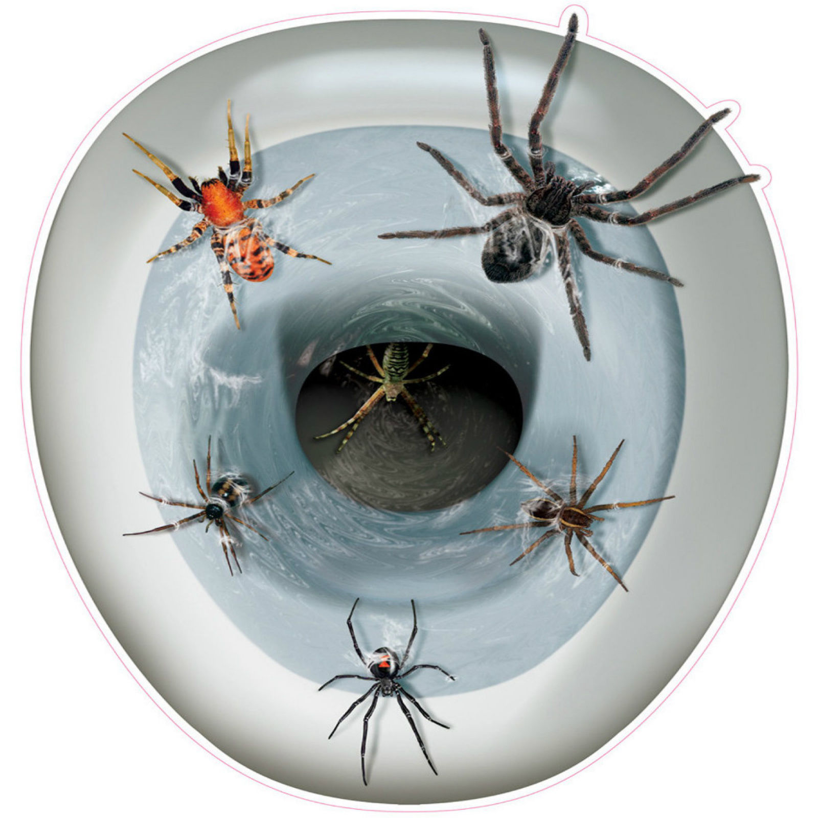 Novelty Toilet Seat Spider Cover Sticker Creepy Topper Removable Halloween Decor