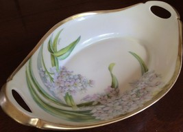 "LOVELY FLORAL  HAND PAINTED SIGNED ""RYBAUL"" BAV... - $32.33"