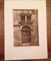 French Print Photograph Hotels & Maison's De La Renaissance Franchise Or... - $28.01