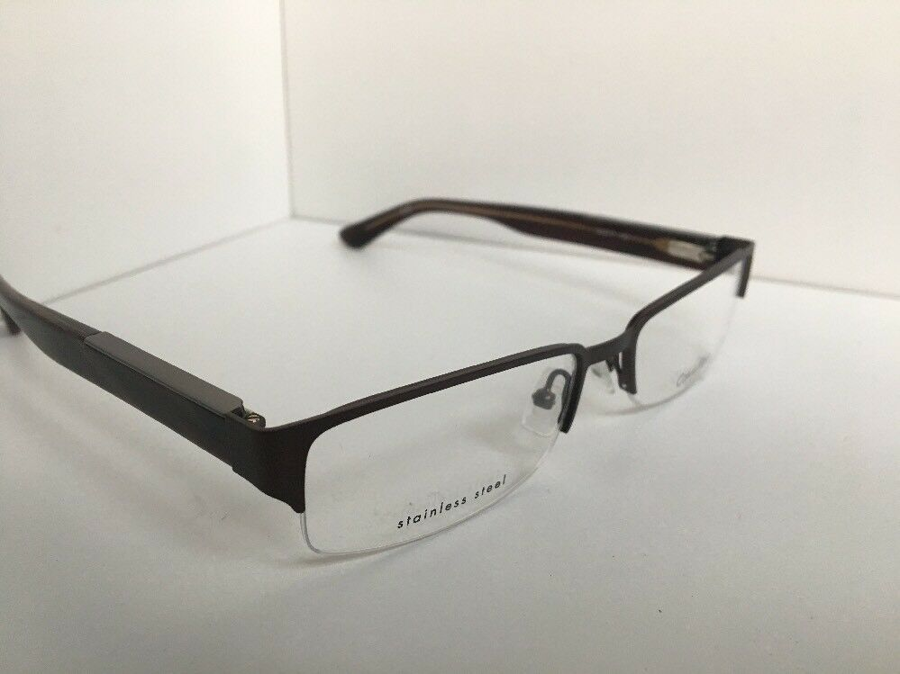 New Calvin Klein CK 7372 015 54mm Semi-Rimless Men's Eyeglasses Frame