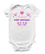 First Birthday Onesie for Baby Girls - Personalized First Birthday Onesie - $13.99