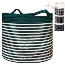 Cotton Rope Basket, Wicker Laundry Basket, Senpulism Blanket Basket Livi... - €26,85 EUR