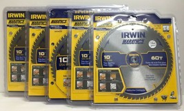 "(New) IRWIN 14074 10"" 60 T Circular Saw Blade  Lot of 5 - $99.98"