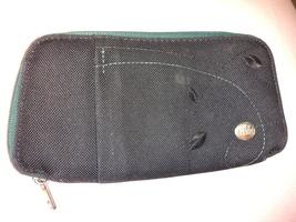 Haiku Fortitude black canvas wallet zip around RFID pre-owned - $11.00