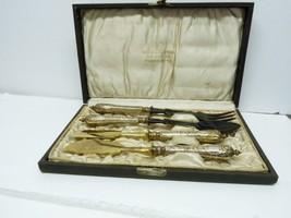 Antique Art Nouveau Lasar Seligman Frankfurt 4pc Serving Set 800 Silver ... - $171.50