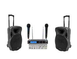 NEW MOBILE TAILGATE IPAD/ANDROID/IOS/PC/LAPTOP KARAOKE SYSTEM 3000 WATTS - $335.67