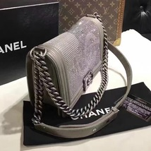 AUTHENTIC CHANEL PARIS DALLAS COLLECTION STRASS METALIZED CC BOY FLAP BAG image 6