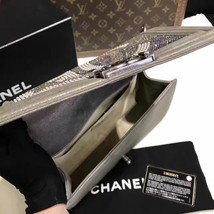 AUTHENTIC CHANEL PARIS DALLAS COLLECTION STRASS METALIZED CC BOY FLAP BAG image 10