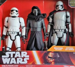 Star Wars 3 Giant TFA Characters Kylo Ren First Order Stormtrooper Capt Phasma