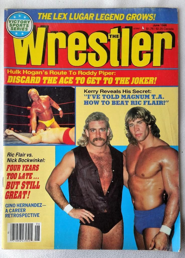 June 1986 The Wrestler Magazine Hulk Hogan Magnum TA Ric Flair Nick Bockwinkel