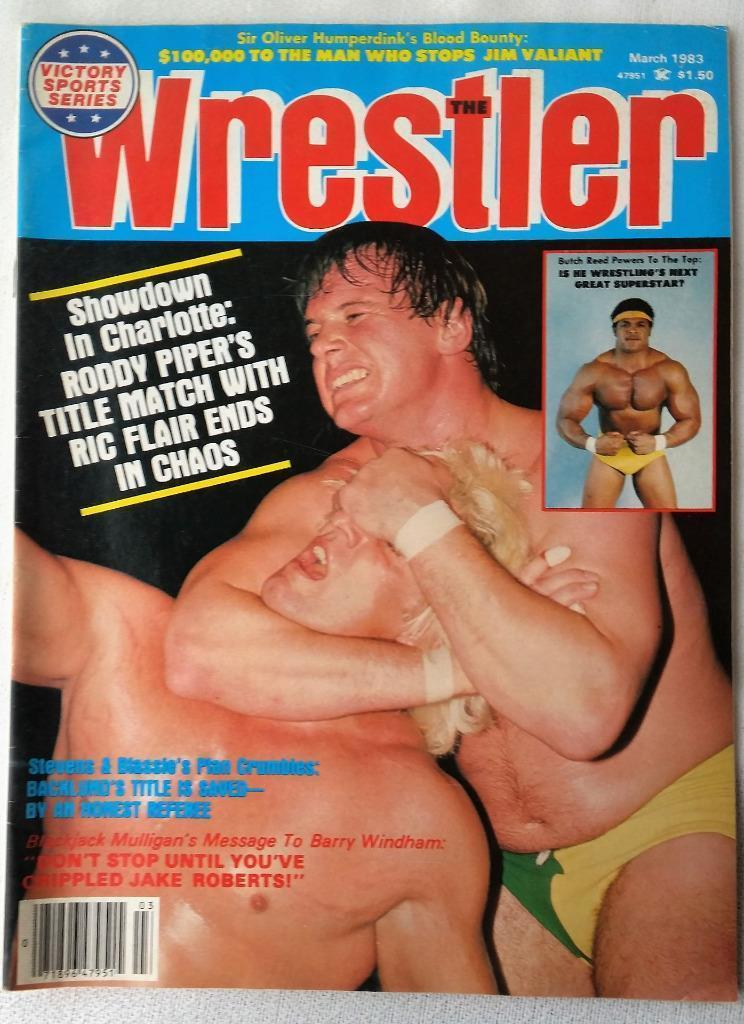 March 1983 The Wrestler Magazine Roddy Piper Ric Flair Butch Reed Backlund