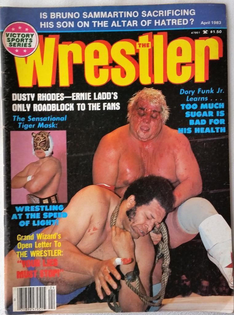 April 1983 The Wrestler Magazine Dusty Rhodes Dory Funk Ernie Ladd Tiger Mask
