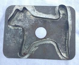 Antique Tin Soldered Dog Cookie Cutter Flat Back AAFA
