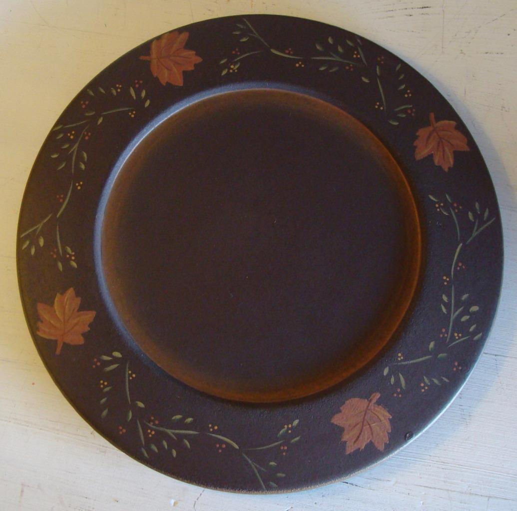 Harvest Leaves & Vine Plate by Marybeth Country Rustic Decor Primitive