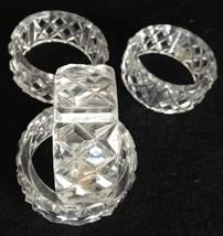 Vintage Retro Clear Plastic Napkin Ring Holders... - $9.95