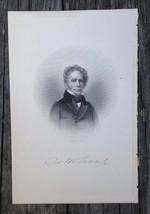 Georgia George Michael Troup 1910 Original Engraving Senator Govenor