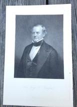 Georgia George Walker Crawford 1910 Original Engraving Print Lawyer Governor