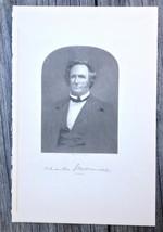 Georgia Charles James McDonald 1910 Original Engraving Print Governor Judge