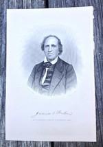 Georgia James Osgood Andrew 1910 Original Engraving Print Bishop