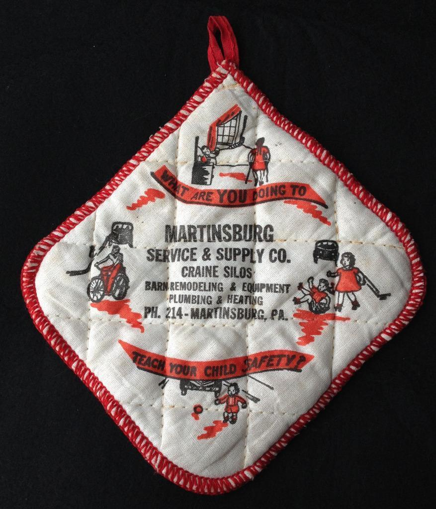 Martinsburg PA Advertising Pot Holder Service & Supply Craine Silo Child Safety