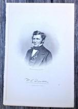 Georgia William Crosby Dawson 1910 Original Engraving Print Lawyer Soldier
