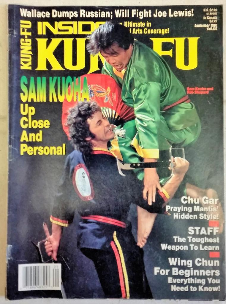 September 1990 Inside Kung-Fu Magazine SamkuohaChu Gar Wing Chun Praying Mantis