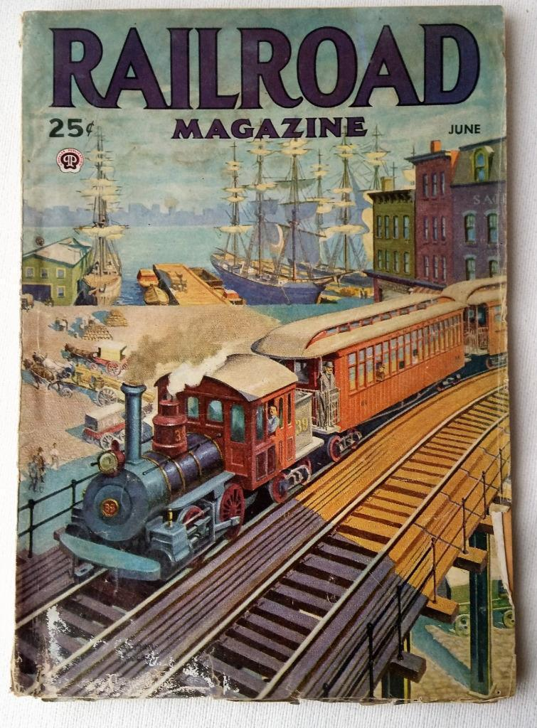 1945 June Railroad Magazine Pulp RR Articles Stories New York Central Niagara