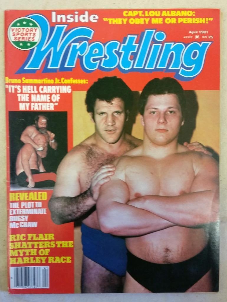 April '81 Inside Wrestling Magazine Plot to Exterminate Bugsy McGraw Sammartino