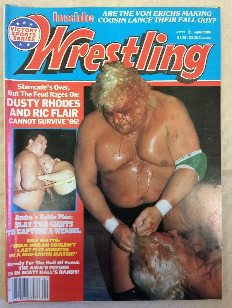 April 1986 Inside Wrestling Magazine Ric Flair Dusty Rhodes Andre the Giant Hulk