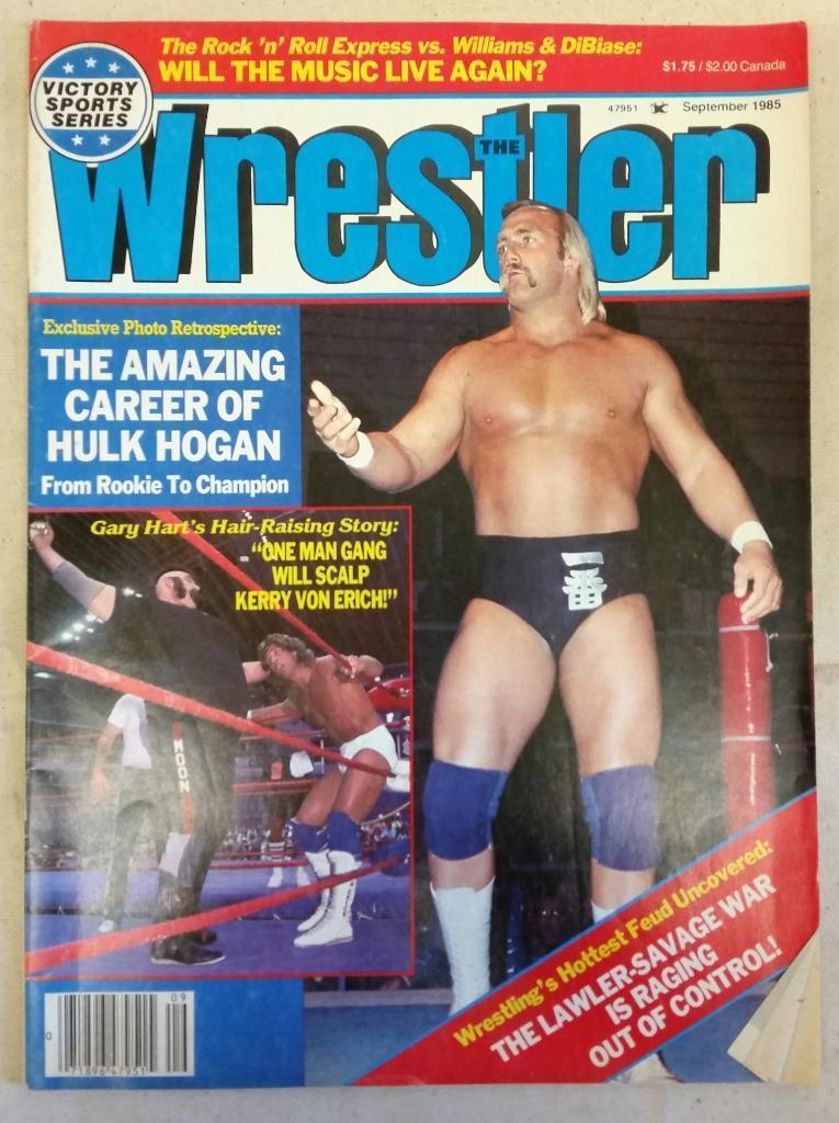 September 1985 The Wrestler Magazine The Amazing Career of Hulk Hogan