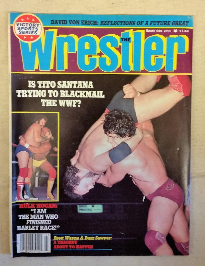 March 1984 The Wrestler Magazine Is Tito Santana Trying to Blackmail the WWF