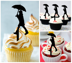 Ca300 cupcake toppers happy raining day Package : 10 pcs - $10.00