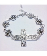 Unique Flower Link Cross Bracelet  - $14.99