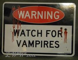 Halloween Warning Watch for Werewolves Watch for Vampires Indoor Cardboa... - $3.99