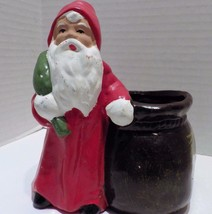 Vintage Santa Claus Father Christmas Figure Bowl Planter Made in GERMANY - $19.79
