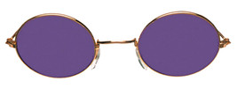 Glasses John Gold Purple Adult Unisex Costume Accessories - £16.88 GBP