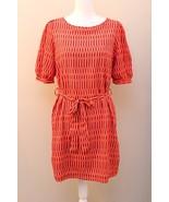 Francesca's Striped Dress Purple Orange Striped Size Medium M Belt Tie - $22.74