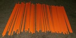 Mini K'nex Orange Pieces 8 inches each 66 pieces total In Lot - $8.37
