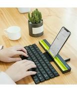 Portable Mini Folding Keyboard Foldable Wireless Keypad For Tablet For I... - $44.99