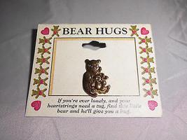 Vtg New Old Stock Bear Hugs Gold Tone Bear Pin Brooch (A) - $5.94