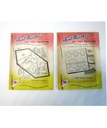 2  Aunt Martha's Transfers -9240 Asst. Alphabets & 3567 Border Designs P... - $9.50