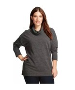 NWT 4X 28W 30W Ava & Viv Plus Size Top Cowl Neck Tunic Sweater Heather G... - $21.17