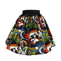 Hemet Monsters Skirt aline Mummy Dracula retro fun rockabilly 50's inspired - $45.95+