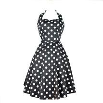 Hemet Black and White Polka Dots Full Circle dress Pinup rockabilly dapp... - $89.95