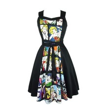 Hemet  Comic Full Circle Dress Retro Vintage Psychobilly PinUp 50's colo... - $89.95