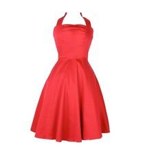 Hemet Red Full Circle halter dress Pinup rockabilly dapper 50s - $89.95